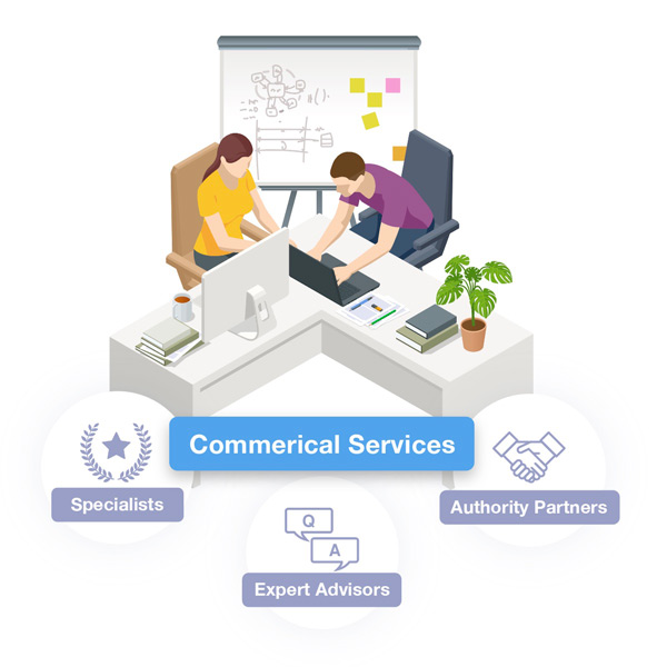 Commercial Services Illustration